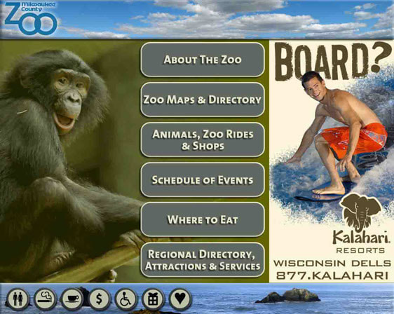 Milwaukee County Zoo Touchscreen User Interface